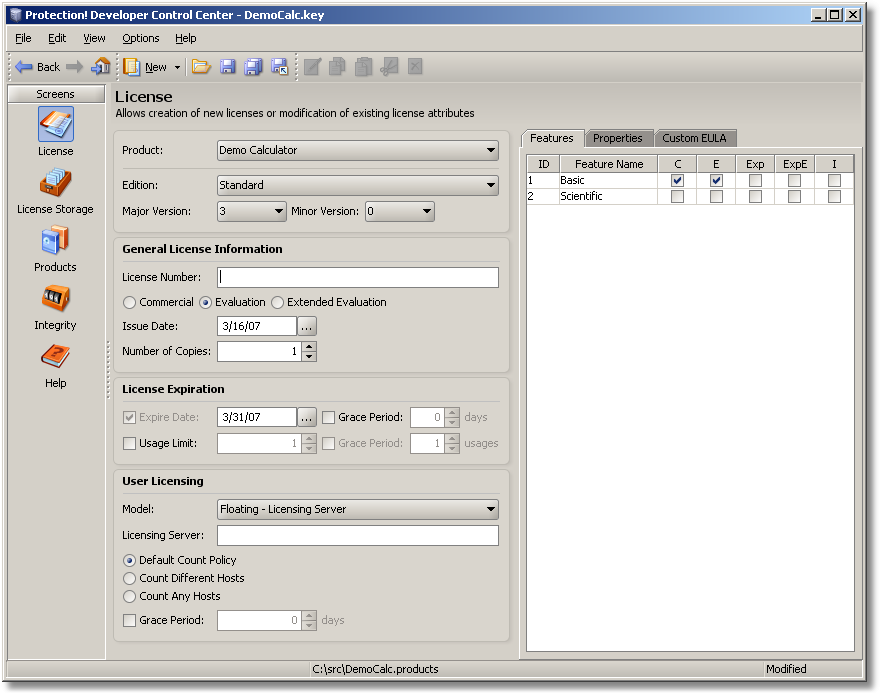 Protection! Licensing Framework Developer x64 screenshot